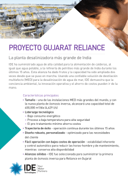 Proyecto Reliance India