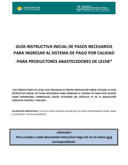 Guia Inicial para Productores - Ministerio de Agricultura, Ganadería