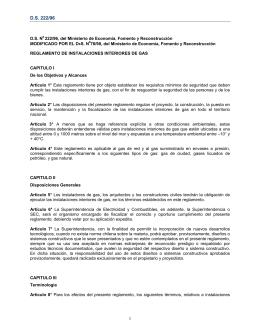 Decreto Supremo N° 222/95 - Superintendencia de Electricidad y