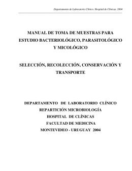 manual de toma de muestras para estudio bacteriológico