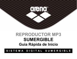 REPRODUCTOR MP3 SUMERGIBLE