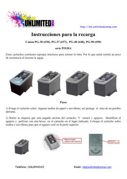 Como recargar los cartuchos de tinta de una Canon