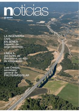 LA INGENIERÍA CIVIL EN SENER trayecto de largo recorrido LÍNEA