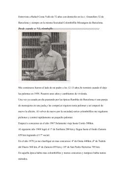 entrevista al sr.rafael costa valls