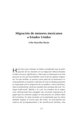 Migración de menores mexicanos a Estados Unidos