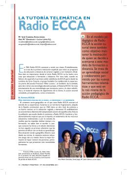 LA TUTORÍA TELEMÁTICA EN Radio ECCA