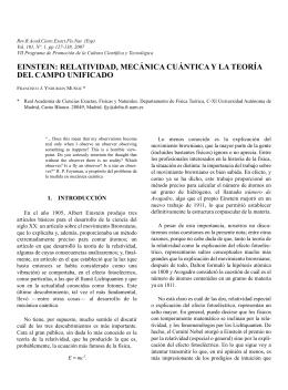 einstein: relatividad, mecánica cuántica y la teoría del campo unificado