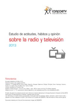 sobre la radio y televisión