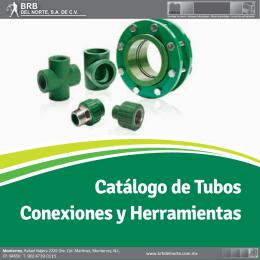 Catálogo de Tubos Conexiones y Herramientas