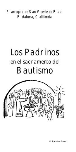 Los Padrinos en el Sacramento del Bautismo