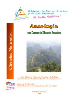 Antología para docentes de educatión secundaria: ciencias naturales