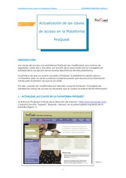 Actualización de las claves de acceso en la Plataforma ProQuest