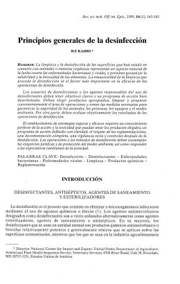 Principios generales de la desinfección