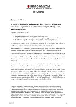 150223 C105 El Gobierno de Gibraltar y la Fundación Calpe House