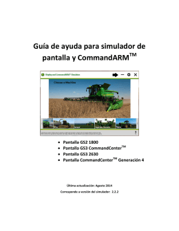 Guía de ayuda Display and CommandARM™ Simulator