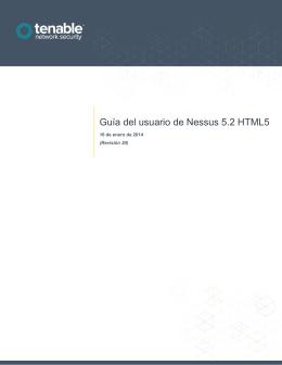 Guía del usuario de Nessus 5.2 HTML5
