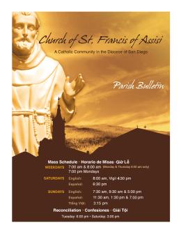 7:00 3:15 4 - St. Francis of Assisi Catholic Church