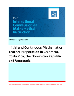 Initial and Continuous Mathematics Teacher Preparation in