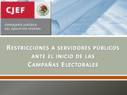 Restricciones a Servidores Públicos