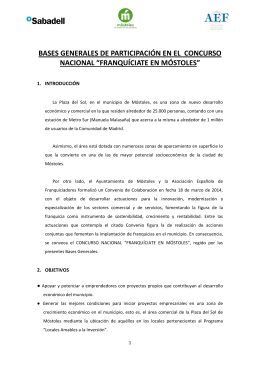 BASES CONCURSO NACIONAL FRANQUÍCIATE EN MOSTOLES