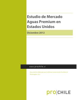 2012 Estudio de Mercado Aguas Premium
