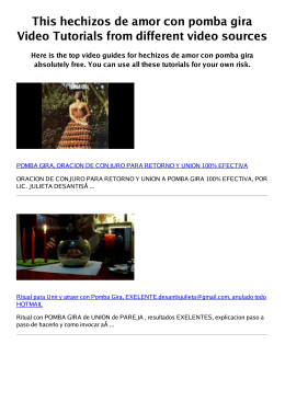 #Z hechizos de amor con pomba gira PDF video books