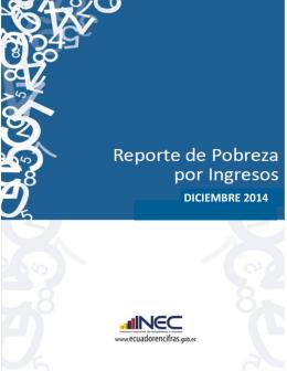 Reporte de pobreza – Diciembre 2014