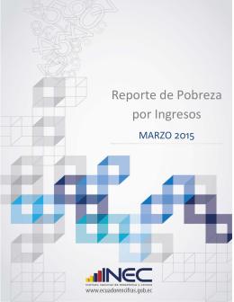 Reporte de Pobreza por Ingresos - Instituto Nacional de Estadística