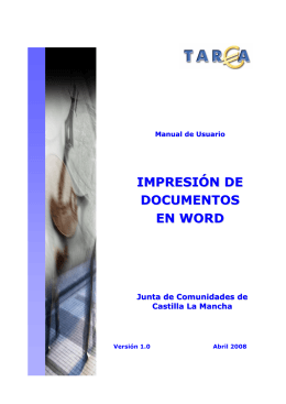 IMPRESIÓN DE DOCUMENTOS EN WORD