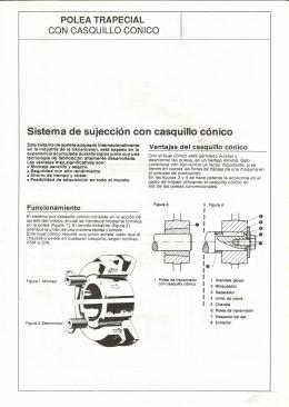 Sistema de sujección con casquillo cónico