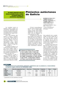 artículo revista Pimientos autóctonos de Galicia