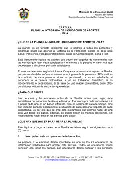 guia planilla integrada - Ministerio de Salud y Protección Social