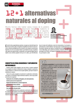 12+1 alternativas naturales al doping