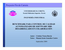 MBS Benchmark - Universidade da Coruña