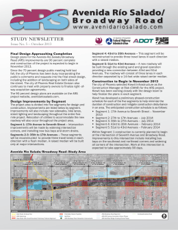 STUDY NEWSLETTER - Avenida Rio Salado /Broadway Road Project