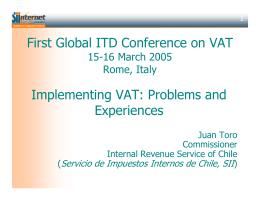 presentación - Servicio de Impuestos Internos