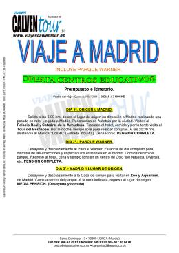 MADRID OFERTA DE ESTUDIANTES 3 DIAS