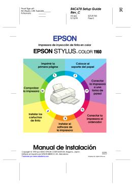 Manual de Instalación de la EPSON STYLUS COLOR 1160