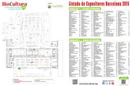 Listado de Expositores Barcelona 2015
