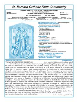St. Bernard Catholic Faith Community