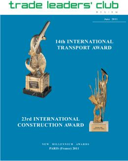 14th International Transport Award / 23rd