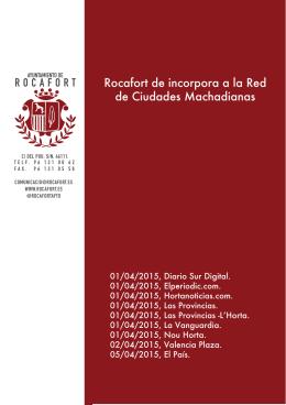 portada dossier - Ajuntament de Rocafort