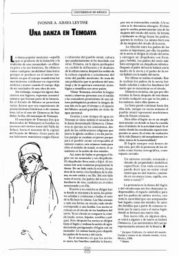 una danza en temoaya - Revista de la Universidad de México