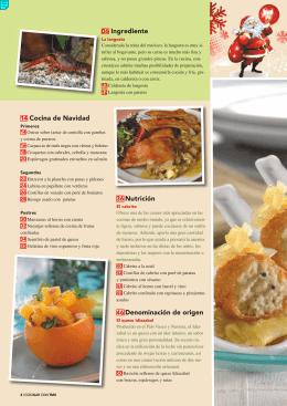 14 Cocina de Navidad 36 Nutrición 46 Denominación de origen 06
