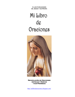 A los Corazones de Jesús y de María Recopilación de Oraciones