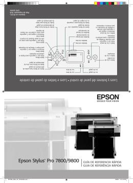 Epson Stylus® Pro 7800/9800 GUÍA DE REFERENCIA RÁPIDA