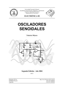 Osciladores - Facultad de Ciencias Exactas, Ingeniería y Agrimensura