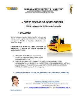 CURSO OPERADOR DE BULLDOZER