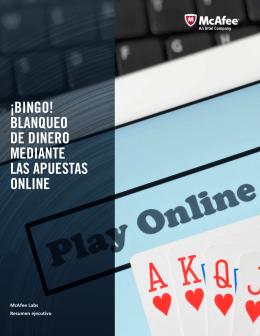 ¡Bingo! Blanqueo de dinero mediante las apuestas online