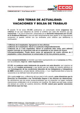 DOS TEMAS DE ACTUALIDAD: VACACIONES Y BOLSA DE